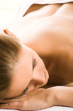 young beautiful woman in a spa is relaxing  poster