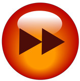 red fast forward web icon or button  poster