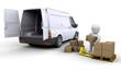 Unloading a van