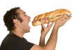 Man Eating Big Sandwich