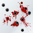 Gunshot blood splatter background