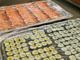sushi reihen,bankett,gastronomie küche poster