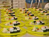 sushi tellerreihen,bankett,gastronomie poster