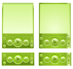 Vector green interface for player