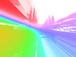 abstract rainbow luminous future background