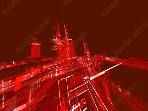 canvas print picture abstract red background