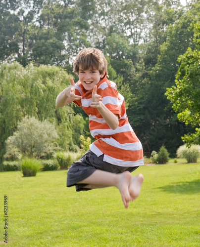 Boy Jumping in the Air