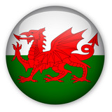 Wales flag button poster