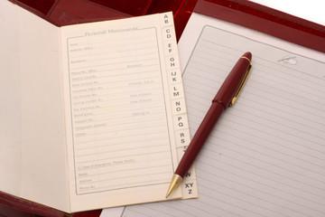 Personal Memoranda with Pen