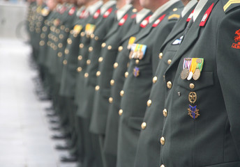 Soldiers at a Ceremony