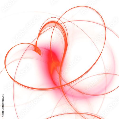 Leinwandbild Motiv Fraktales Herz