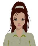 Safari girl poster