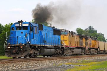 Smoky diesel