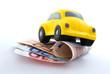 Auto erklimmt Eurohürde