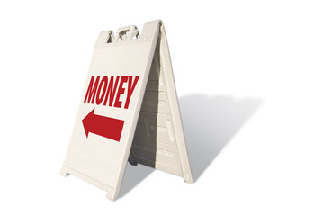Money Tent Sign