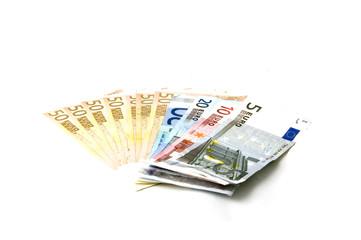 Euro banknotes money