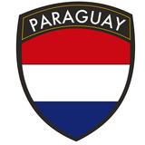 paraguay crest con bandiera poster