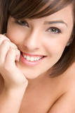 Beautiful Woman Grinning poster