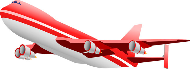 Flugzeug - rot