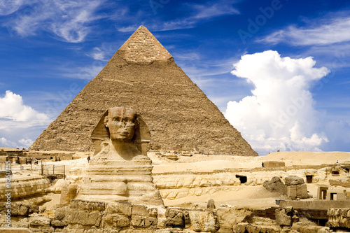 Egyptian Sphinx and Pyramid - 8250755