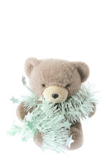 Teddy Bear with Tinsel