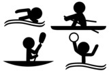 Sports Icons (Rowing/Swimming/Kayaking/WaterPolo)