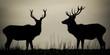 Red Deer (Cervus Elaphus) At Dusk