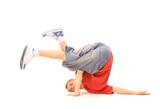 breakdancer in strange pose poster