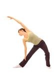 sportswoman stretch herself poster