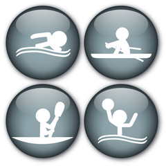 Sports buttons (Swimming/Kayaking/Rowing/WaterPolo)