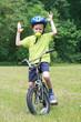 preschooler and bike