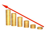 Conceptual image - growth of money resources poster
