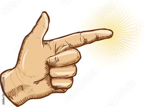 Human hand pointing vector illustration