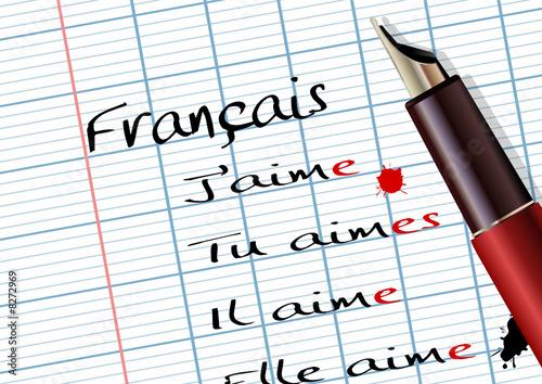 """""""Cours de français (grammaire)"""" fichier vectoriel libre de ..."""