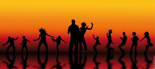soirée de danse et de fête entre amis