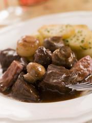 Boeuf Borguignon with Saute Potatoes