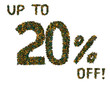Butterfly 20% off sale sign