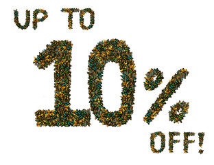 Butterfly 10% off sale sign