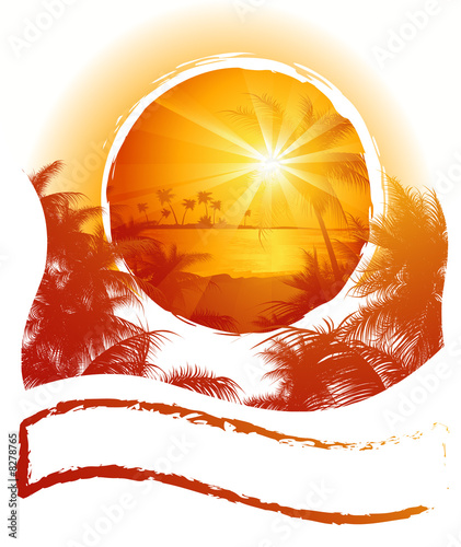 canvas print picture Tropical_frame