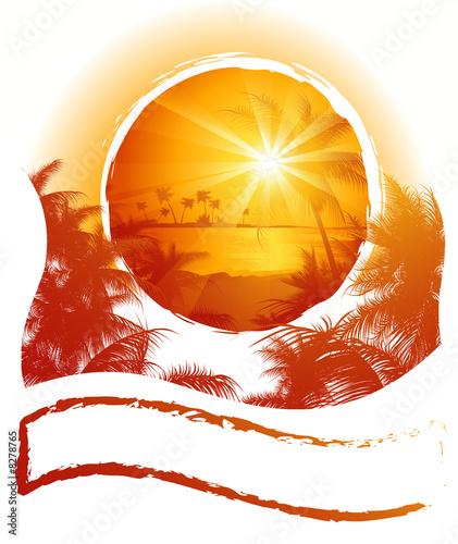 Leinwanddruck Bild Tropical_frame