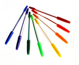 Colored ballpoint pens
