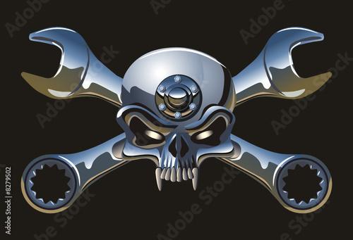 Vector metall Jolly Roger - 8279502