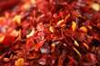 roleta: Hot Red Chilli Chillies pepper crushed, Background Shallow DOF