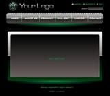 Website green chrome template poster