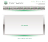 Website white green chrome template poster