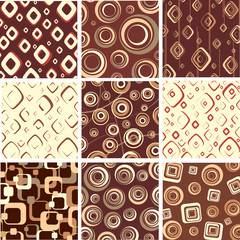 Set chocolate and cream textures. Vector.