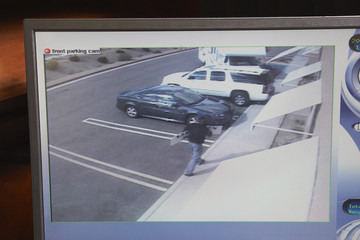 Video monitor with picture from security camera