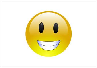 Aqua Emoticons - Grin