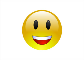Aqua Emoticon - Laugh