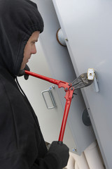 Thief cutting lock